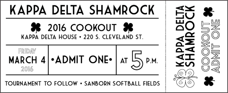 Cookout Ticket