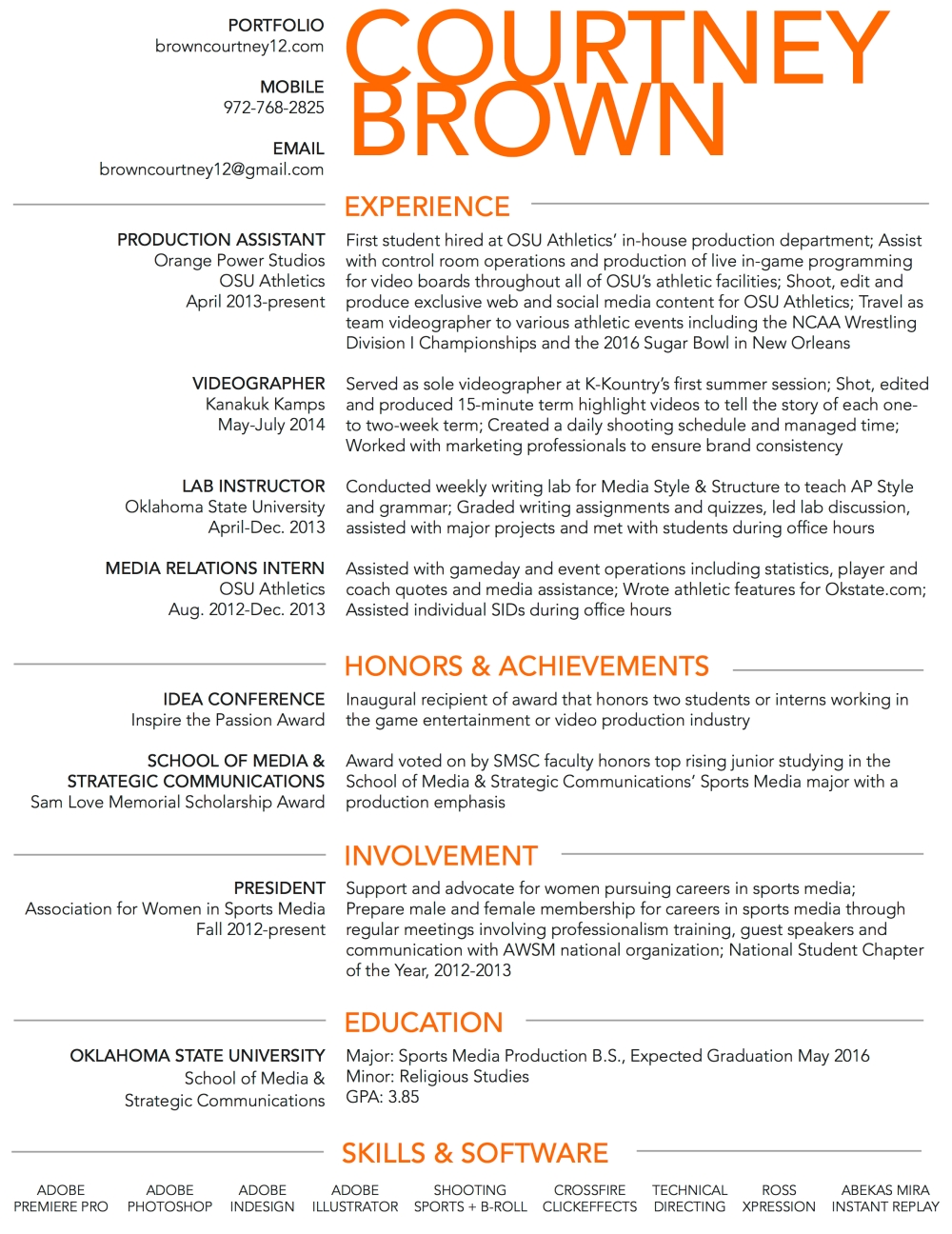 Courtney Brown Resume 030716