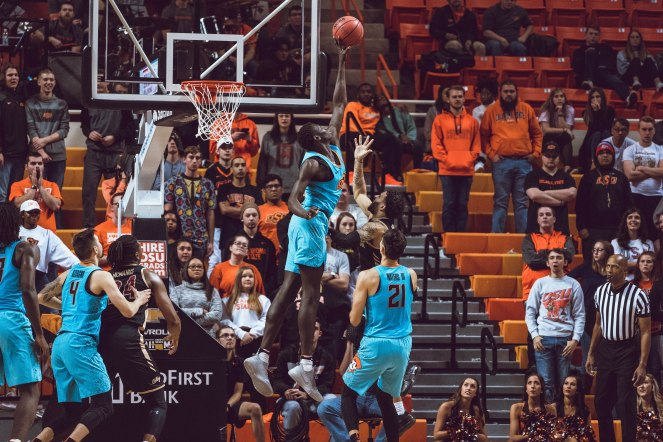 Oklahoma State Cowboys vs Charleston Cougars Basketball Game, Sunday, November 18, 2018, Gallagher-Iba Arena, Stillwater, OK. Courtney Bay/OSU Athletics