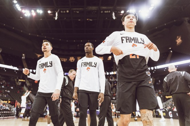 Oklahoma State Cowboys at the Big 12 Men's Basketball Championships, Wednesday, March 13, 2019, Sprint Center, Kansas City, MO. Courtney Bay/OSU Athletics