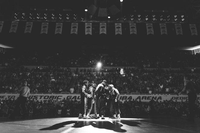 Oklahoma State Cowboys vs Iowa Hawkeyes Wrestling Dual, Sunday, February 24, 2019, Gallagher-Iba Arena, Stillwater, OK. Courtney Bay/OSU Athletics