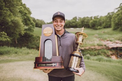 Image Taken At Karsten Creek Golf Club, Oklahoma State University, Thursday, May 9, 2019. Courtney Bay/OSU Athletics