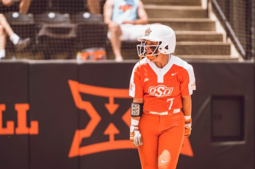 Oklahoma State Cowgirls vs Tulsa Golden Hurricane at the NCAA Softball Tournament Regional, Friday, May 17, 2019, Cowgirl Stadium, Stillwater, OK. Courtney Bay/OSU Athletics