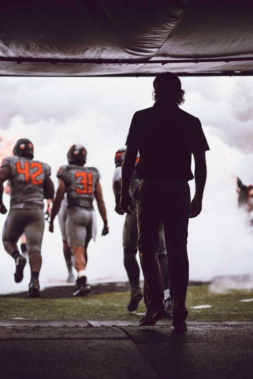 Image Taken at Oklahoma State Cowboys vs. McNeese Cowboys Football Game, Saturday, September 7, 2019, Boone Pickens Stadium, Stillwater, OK. Courtney Bay/OSU Athletics